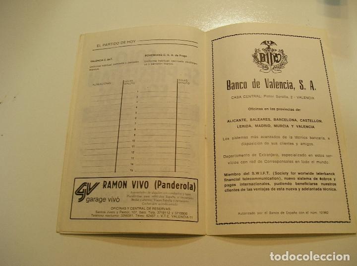 Coleccionismo deportivo: PROGRAMA oficial FUTBOL.VALENCIA C.F.-Bohemians ckd Praga. Copa UEFA.campeonato de europa.1981. - Foto 12 - 171274013