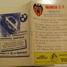 Coleccionismo deportivo: PROGRAMA OFICIAL FUTBOL.VALENCIA C.F.-BOHEMIANS CKD PRAGA. COPA UEFA.CAMPEONATO DE EUROPA.1981.. Lote 171274013
