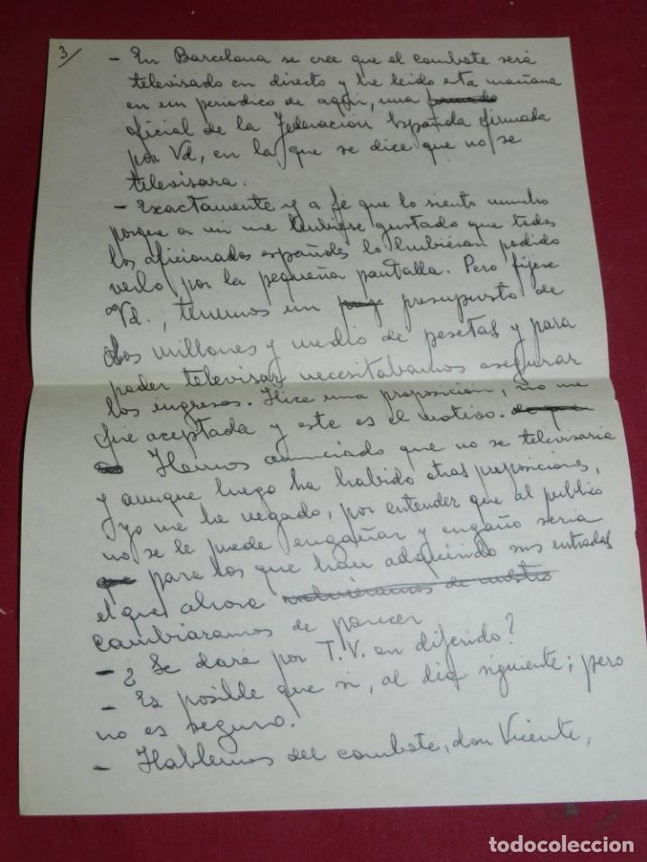 Coleccionismo deportivo: Documento Original Boxeo Paulino Uzcudun en Madrid con la visita de Ferenc Puskas R Madrid - Foto 4 - 171403844