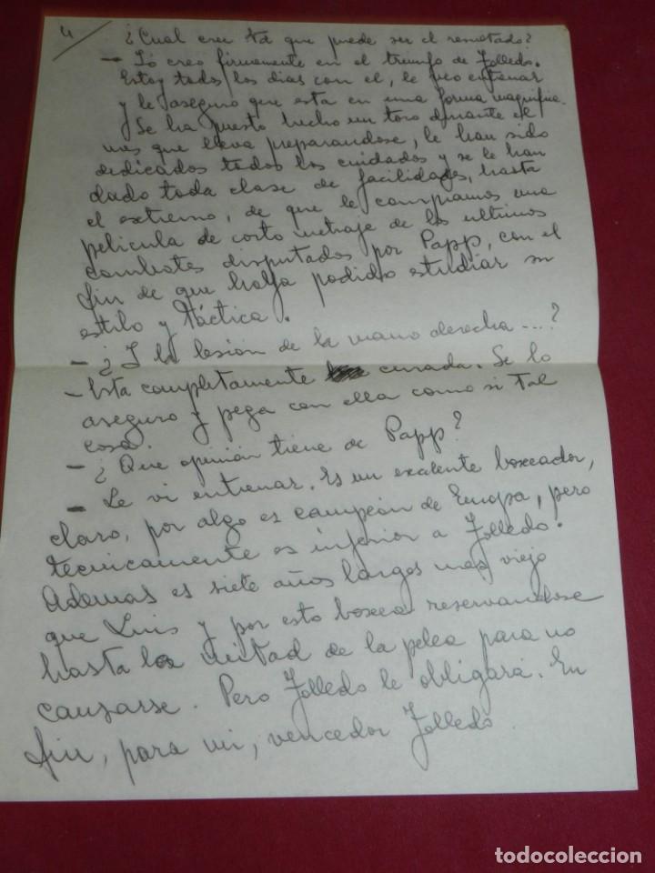 Coleccionismo deportivo: Documento Original Boxeo Paulino Uzcudun en Madrid con la visita de Ferenc Puskas R Madrid - Foto 5 - 171403844