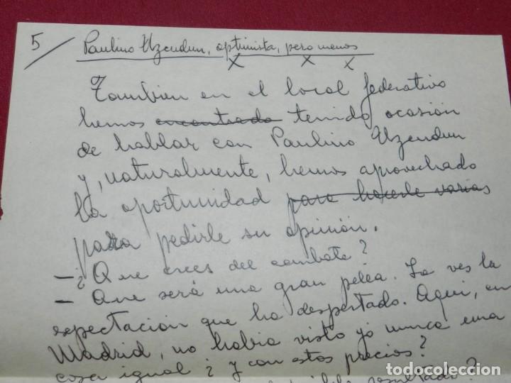 Coleccionismo deportivo: Documento Original Boxeo Paulino Uzcudun en Madrid con la visita de Ferenc Puskas R Madrid - Foto 8 - 171403844