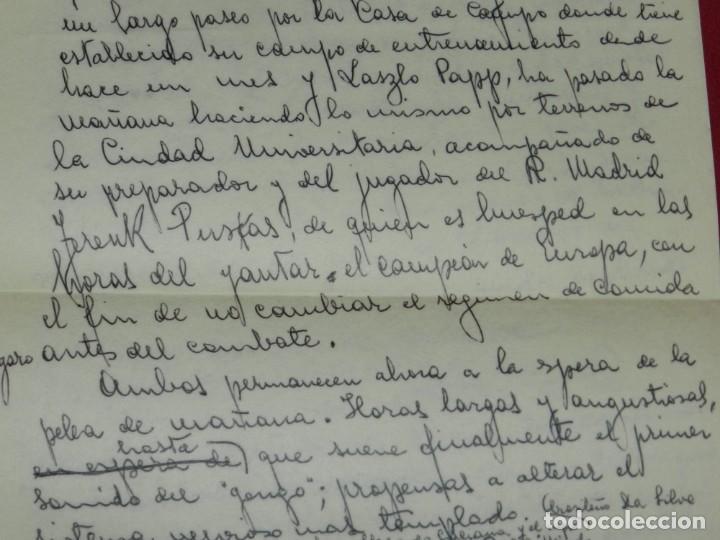 Coleccionismo deportivo: Documento Original Boxeo Paulino Uzcudun en Madrid con la visita de Ferenc Puskas R Madrid - Foto 9 - 171403844