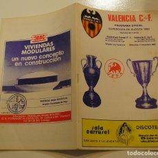 Coleccionismo deportivo: FUTBOL -PROGRAMA OFICIAL SUPERCOPA DE EUROPA, DICIEMBRE 1980, VALENCIA C.F.- NOTTINGHAM FOREST. Lote 171835099