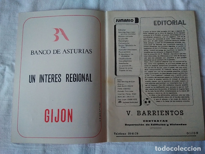 Coleccionismo deportivo: 79-BOLETIN INFORMATIVO REAL SPORTING DE GIJON NOVIEMBRE, 1977 - Foto 3 - 172177345