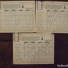 Coleccionismo deportivo: LOTE DE 3 QUINIELAS SELLADAS - JORNADA 1 3 - 09 - 1972 - 2 DE 4 APUESTAS Y 1 DE O APUESTAS. Lote 172654824