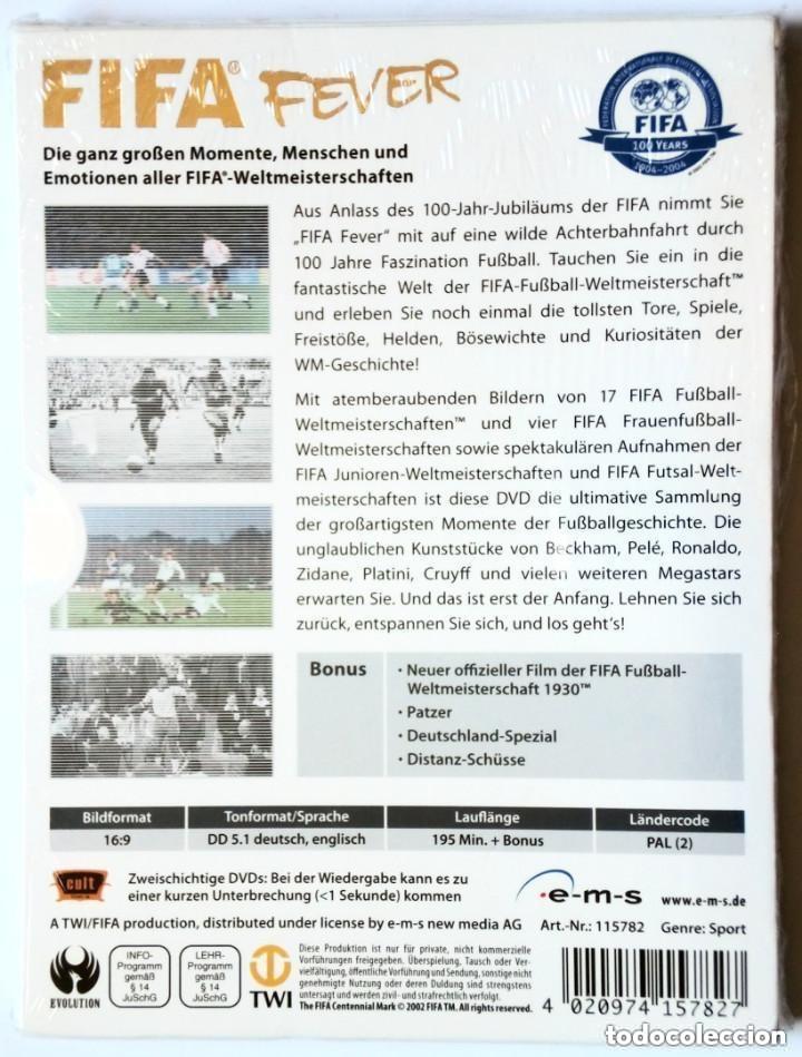 Coleccionismo deportivo: 2 x DVD - FIFA FEVER - FIFA 100 YEARS 1904-2004 - En alemán / Deutsch - - Foto 2 - 172672607