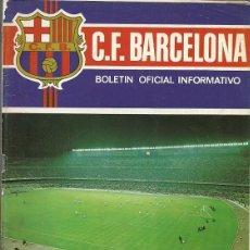 Colecionismo desportivo: BOLETIN OFICIAL INFORMATIVO C F BARCELONA JUNIO AÑO III Nº 18. Lote 172913865