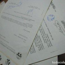 Coleccionismo deportivo: JOSE LUIS MONTES VICENTE JUGADOR PORTERO MELILLA FUTBOL CLUB Y HERCULES ALICANTE DOCUMENTOS. Lote 173163173