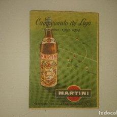 Coleccionismo deportivo: CALENDARIO DE PARTIDOS DE FUTBOL DE MARTINI TEMPORADA 1953-1954 , TROFEO MARTINI & ROSSI. Lote 173859198