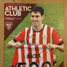 Coleccionismo deportivo: ATHLETIC CLUB 4 - 0 VILLARREAL CF. PROGRAMA OFICIAL PARTIDO JORNADA 38 TEMPORADA 2014/15.. Lote 173882272
