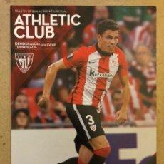 Coleccionismo deportivo: ATHLETIC CLUB 2-0 LEVANTE UD. PROGRAMA OFICIAL PARTIDO JORNADA 18 TEMPORADA 2015/16. Lote 173882824