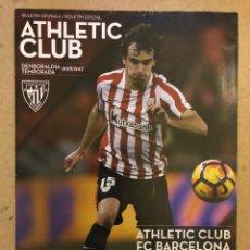 Coleccionismo deportivo: ATHLETIC CLUB 2-1 FC BARCELONA. PROGRAMA OFICIAL PARTIDO. OCTAVOS FINAL COPA DEL REY. Lote 173883138