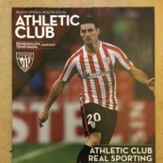 Coleccionismo deportivo: ATHLETIC CLUB 2 - 1 REAL SPORTING DE GIJÓN. PROGRAMA OFICIAL PARTIDO JORNADA 20. Lote 173883779