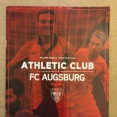Coleccionismo deportivo: ATHLETIC CLUB 3 - 1 FC AUSBURG. PROGRAMA OFICIAL PARTIDO UEFA EUROPA LEAGUE 2015/16.. Lote 173883974