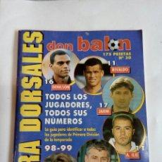 Coleccionismo deportivo: EXTRA DORSAL ES DON BALON. Lote 174252388