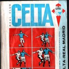 Coleccionismo deportivo: BOLETÍN DEL PARTIDO CELTA - REAL MADRID 1988/89. Lote 174271424