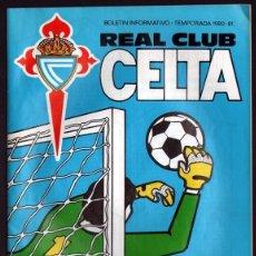 Coleccionismo deportivo: BOLETÍN DEL PARTIDO CELTA - CD LOGROÑES 1980/81. Lote 174271432