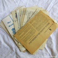 Coleccionismo deportivo: 26 ABONOS DE LOCALIDADES DEL REAL MADRID CONSECUTIVOS DESDE LA TEMPORADA 1952-52 HASTA LA 1981-82. Lote 174524110