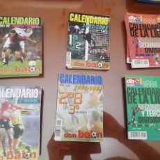 Coleccionismo deportivo: CALENDARIO LIGA 1 Y 2 DIVISIÓN DON BALON. AÑO 2005- 06. 6 EJEMPLARES. Lote 175119522