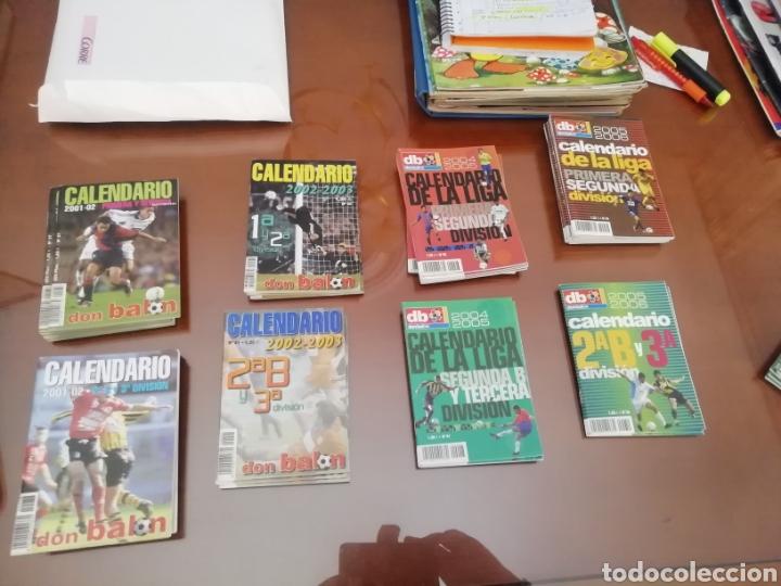 CALENDARIO LIGA DON BALON 2 B Y 3 DIVISIÓN. AÑO 2001 2002. 8 EJEMPLARE (Coleccionismo Deportivo - Documentos de Deportes - Otros)