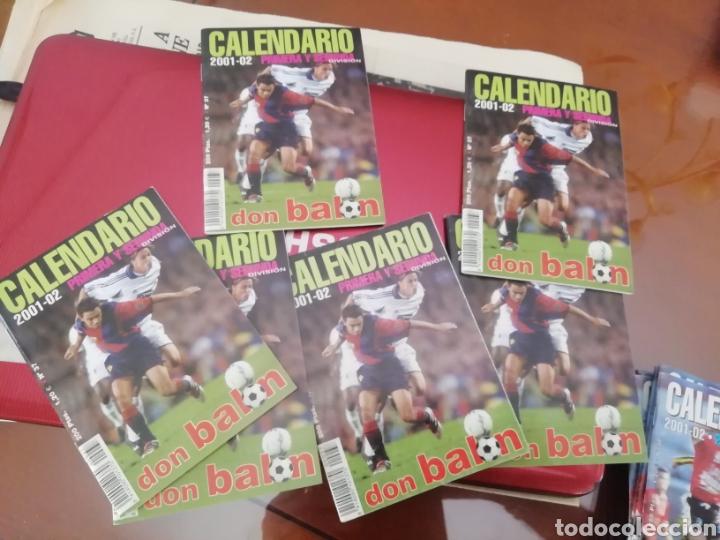 Coleccionismo deportivo: Calendario 1 división don balon. Año 2001 02. lote de 6. - Foto 2 - 175120107