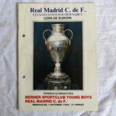Coleccionismo deportivo: PROGRAMA OFICIAL COPA DE EUROPA REAL MADRID - BERNER SPORTCLUB 1986. Lote 175216705