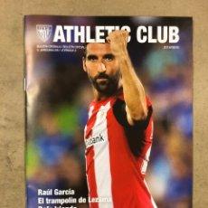 Coleccionismo deportivo: ATHLETIC CLUB 2-0 REAL SOCIEDAD. PROGRAMA PARTIDO JORNADA 3, TEMPORADA 2018/19.. Lote 175329159