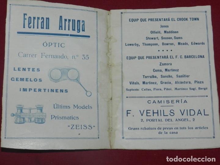 Coleccionismo deportivo: (M) FC Barcelona - Programa Oficial FC Barcelona - Crook-Town Inglés - Civil Cervice 1921, Muy Raro - Foto 2 - 175442742