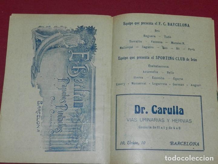 Coleccionismo deportivo: (M) Programa Oficial FC Barcelona - Sporting Club de Irún Año 1914, dias 1 y 2 Noviembre, Muy Raro - Foto 2 - 175443375