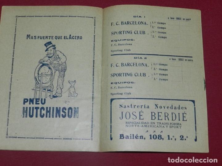Coleccionismo deportivo: (M) Programa Oficial FC Barcelona - Sporting Club de Irún Año 1914, dias 1 y 2 Noviembre, Muy Raro - Foto 3 - 175443375