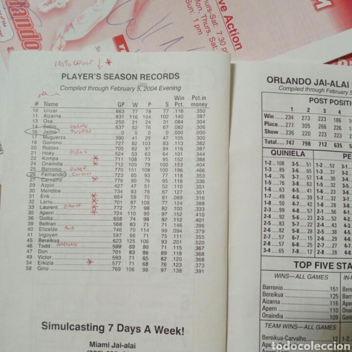 Coleccionismo deportivo: Lote de 4 programas oficiales de ORLANDO JAI ALAI - Cesta Punta - Pelota Vasca - Frontón - Quiniela - Foto 6 - 176012672