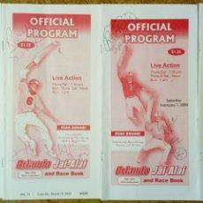 Coleccionismo deportivo: LOTE DE 4 PROGRAMAS OFICIALES DE ORLANDO JAI ALAI - CESTA PUNTA - PELOTA VASCA - FRONTÓN - QUINIELA. Lote 176012672
