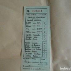 Coleccionismo deportivo: ANTIGUO RESGUARDO QUINIELA 1952. Lote 176848935