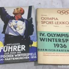 Coleccionismo deportivo: DOBLE LIBRO PUBLICITARIO OFICIAL JUEGOS OLIMPICOS ALEMANIA 1936 EN ALEMÁN BUEN ESTADO MUY RAROS. Lote 176866345