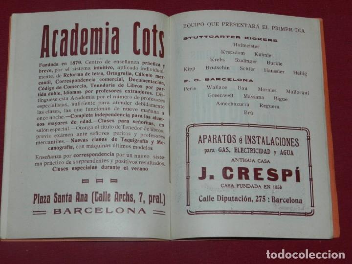 Coleccionismo deportivo: (M) FC Barcelona - Programa Oficial FC Barcelona - Stuttgarte Kickers Aleman 1914, Muy Raro - Foto 4 - 176918230
