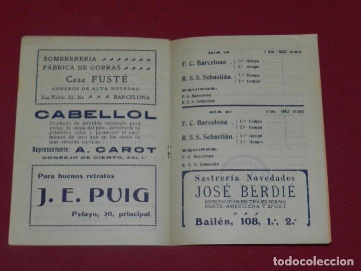 Coleccionismo deportivo: (M) FC Barcelona - Programa Oficial FC Barcelona - R Sociedad de San Sebastian 1915, Muy Raro - Foto 2 - 176918429