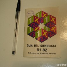 Coleccionismo deportivo: CALENDARIO DEL QUINIELISTA TEMPORADA 81 82 1981 1982 BUEN ESTADO FOTOS HOJA A HOJA. Lote 177050272
