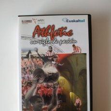 Coleccionismo deportivo: VHS ATHLETIC CLUB DE BILBAO UN SIGLO DE PASION EL CORREO EUSKALTEL EUSKAL TELEBISTA. Lote 177190757
