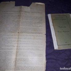 Coleccionismo deportivo: ANTIGUO LIBRILLO DE REGLAMENTO DE BOXEO PROFESIONAL FEDERACIÓN ESPAÑOLA DE BOXEO 1935.. Lote 177420114