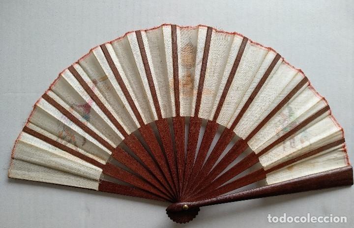 Coleccionismo deportivo: ABANICO CON ESCENAS DE FÚTBOL - Foto 6 - 177496538