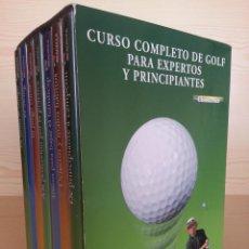 Coleccionismo deportivo: CURSO COMPLETO DE GOLF PARA EXPERTOS Y PRINCIPIANTES - 7 DVD - ESTUCHE. Lote 177577352