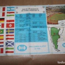 Coleccionismo deportivo: GUIA DE LOS MUNDIALES DE FUTBOL, ARGENTINA 78, EDITADO POR AMC. Lote 177672009