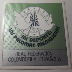 Coleccionismo deportivo: COLOMBOFILAM PEGATINA DE GRANDES DIMENSIONES. SIN PEGAR. ÚNICA EN T.C. 12 X12 CM. Lote 178259330