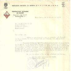 Coleccionismo deportivo: 1161.- RUGBY - FEDERACION CATALANA DE RUGBY - CARTAS ENTRE LA FEDERACION Y EL CLUB A.D.JUVENTUD. Lote 178448940
