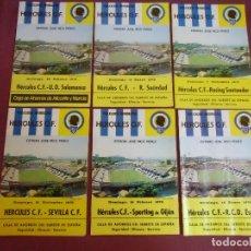 Coleccionismo deportivo: FUTBOL.HERCULES C.F.LOTE DE 6 BOLETINES TEMPORADA 1975-76.VER FOTOS CON DETALLES DE RIVALES.. Lote 178605935
