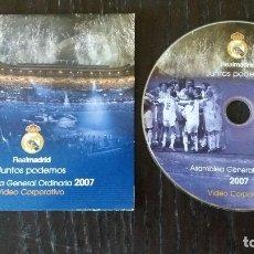 Coleccionismo deportivo: VIDEO CORPORATIVO REAL MADRID ** JUNTOS PODEMOS **ASAMBLEA GENERAL ORDINARIA 2007 **. Lote 178687407