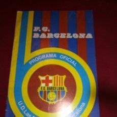 Coleccionismo deportivo: PROGRAMA OFICIAL FC BARCELONA UD LAS PALMAS 1975. Lote 178820512
