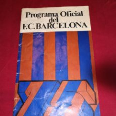 Coleccionismo deportivo: PROGRAMA OFICIAL FC BARCELONA REAL MADRID 1975. Lote 178821681