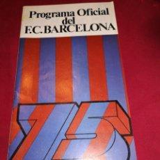 Coleccionismo deportivo: PROGRAMA OFICIAL FC BARCELONA ELCHE 1975. Lote 178822056
