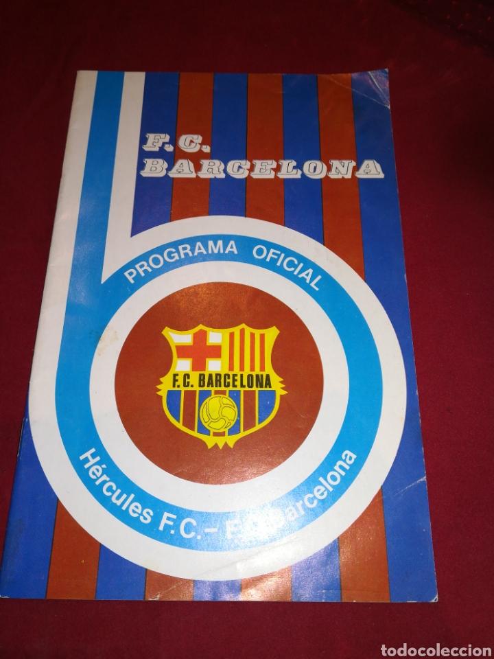 PROGRAMA FC BARCELONA HERCULES FC (Coleccionismo Deportivo - Documentos de Deportes - Otros)